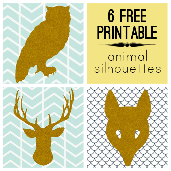 6 modern free printable animal silhouettesprint and cut out trace - Free Print Pictures