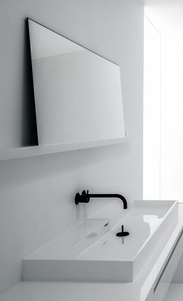 White Minimalism White On White Bathroom Fixtures Bathroom