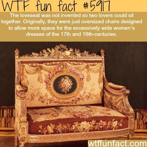 Why the loveseat was invented - WTF fun facts  sc 1 st  Pinterest & Why the loveseat was invented - WTF fun facts | Interesting facts ...