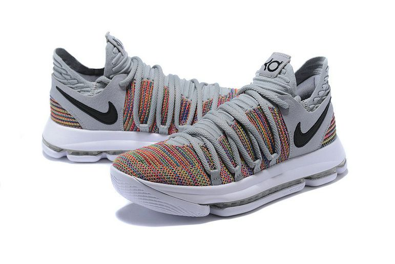 a56e46a6335d Cheapest And Latest Newest And Cheapest Kevin Durant Nike KD 10 Multi Color  Black Cool Grey White