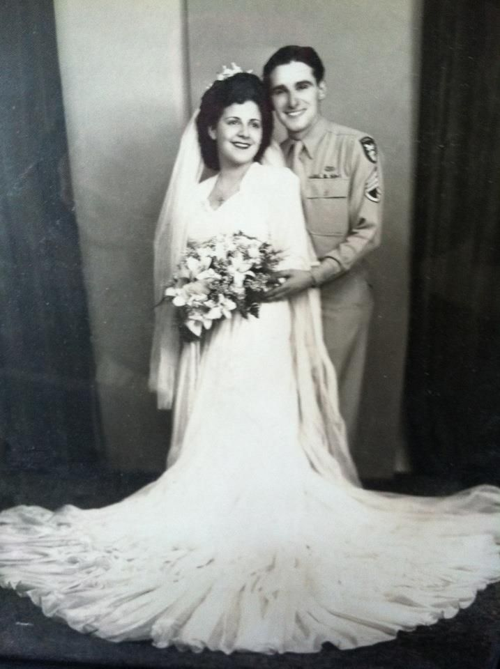 1940s Dress Silky Stars Vintage 40s Dress: Parachute Silk Wedding Dress, 1940s