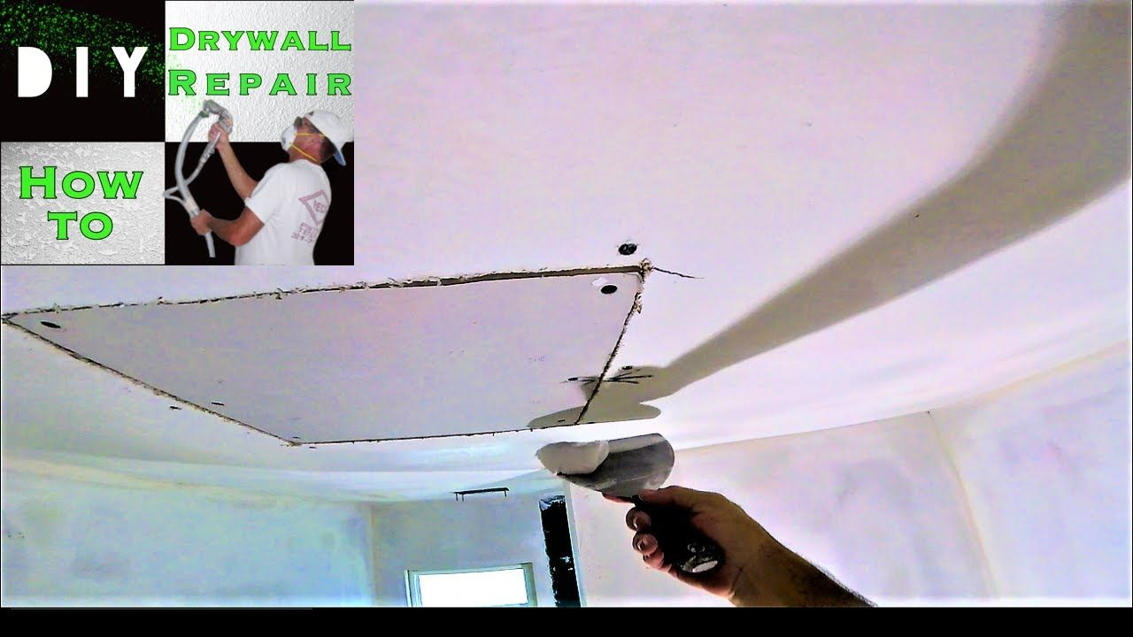 How To Patch A Drywall Hole Part 2 Drywall Finishing The Drywall Patch How To Patch Drywall Drywall Installation Drywall Ceiling