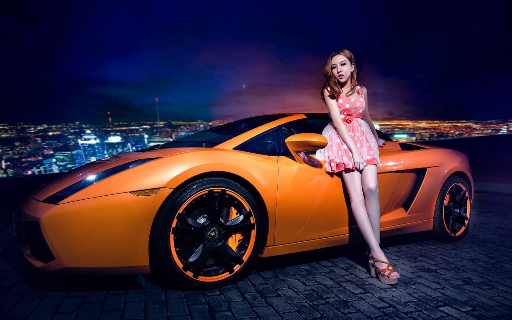 Lamborghini Gallardo With Pretty Girl Jpg Women