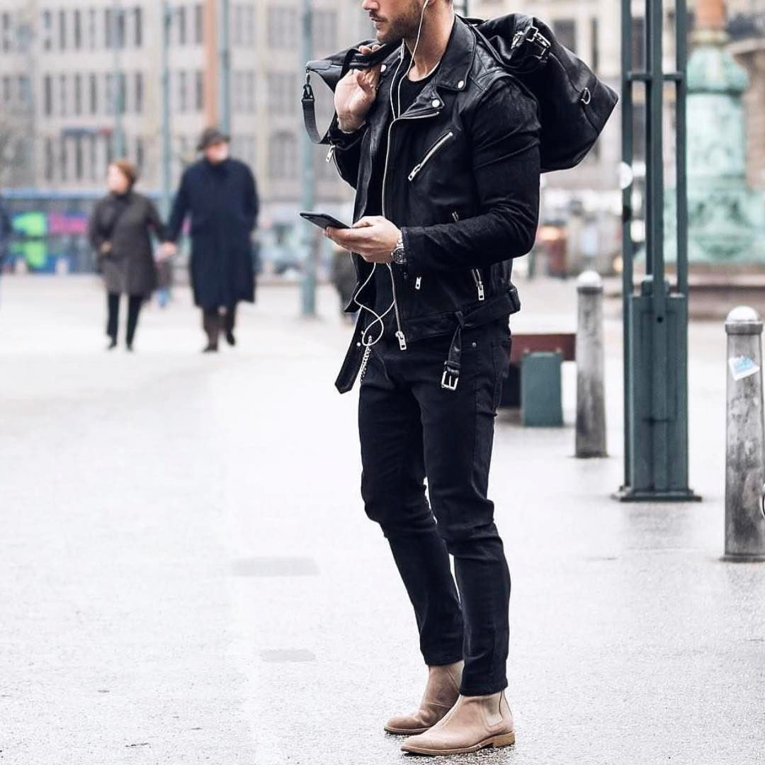 All Black Outfit With Chelsea Boots By Magic Fox Www Royalfashionist Com Black Outfit Men Stylish Mens Outfits Chelsea Boots Outfit
