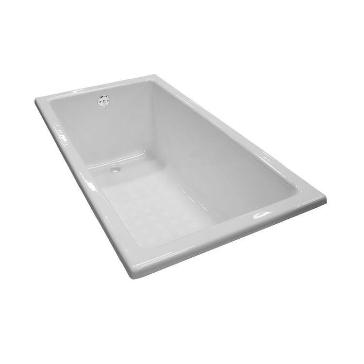Toto Fby1550p Cotton White Enameled Cast Iron Bathtub 59 1 16 X31