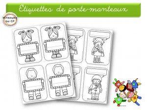 Nouvelles tiquettes pour les crochets mitsoukoaucp - Etiquette porte manteau maternelle imprimer ...