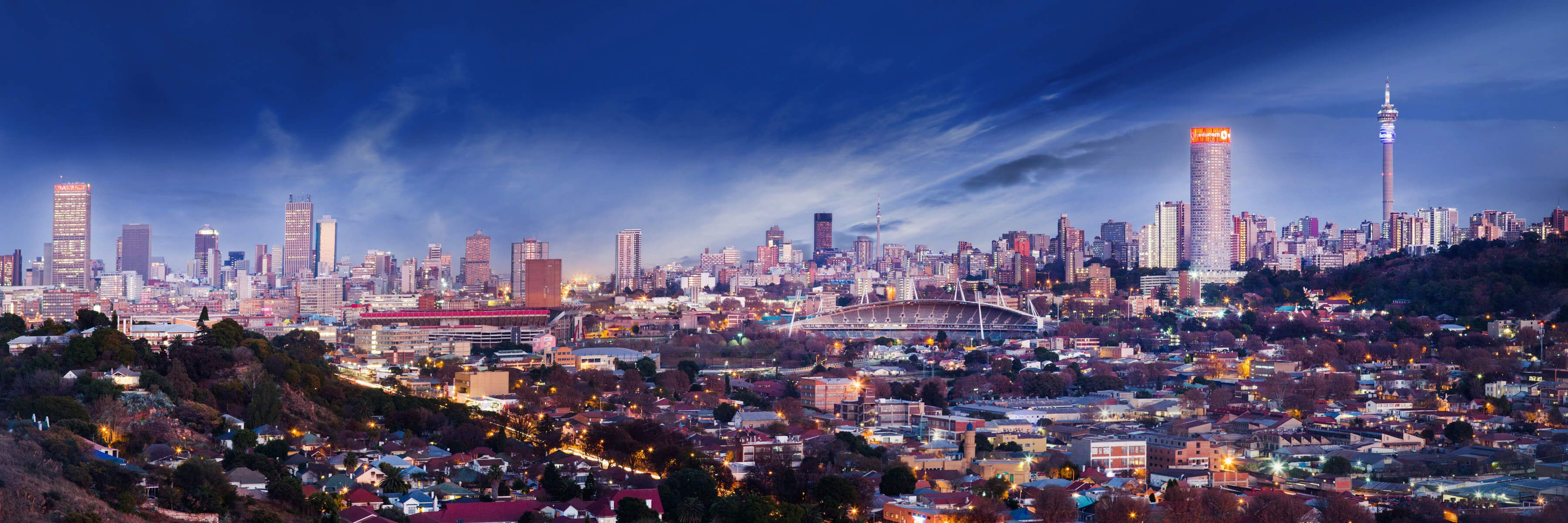 Sasi Wallpaper Johannesburg Skyline At Dusk 5771 Place South