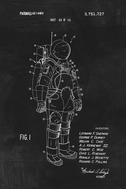 Keep Calm Collection - Space Suit (NASA) Patent Art Poster Print (http://www.keepcalmcollection.com/space-suit-nasa-patent-art-poster-print/)