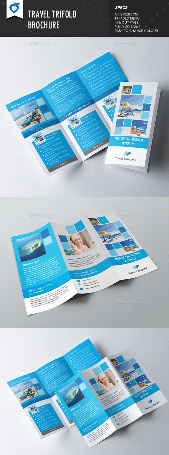 Travel Trifold Brochure Brochures Brochure Template And Template