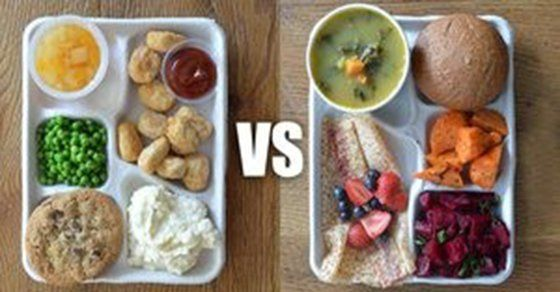 School Cafeteria Food Vs Fast Food