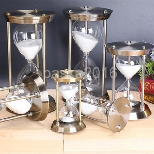 Modern Style 15 30 60 Minute Metal Sand Timers Hourgl Home Table Decoration