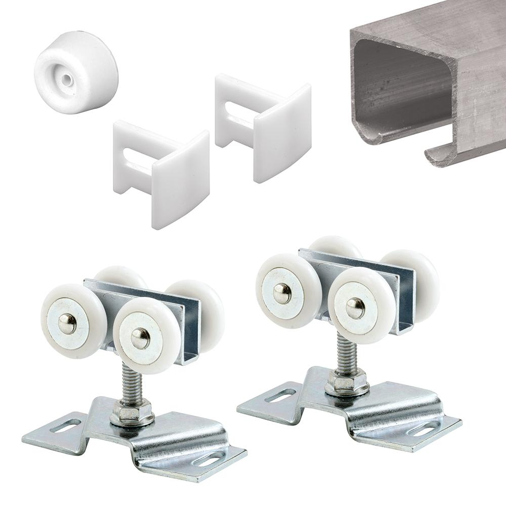 Prime Line 72 In Extruded Aluminum Pocket Door Track Kit 162804 The Home Depot Pocket Door Hardware Pocket Door Track Pocket Doors