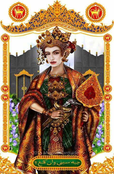 Che Siti Wan Kembang 2 Paduka Che Siti 1526 1547 Masihi Traditional Fashion Traditional Outfits Traditional Dresses
