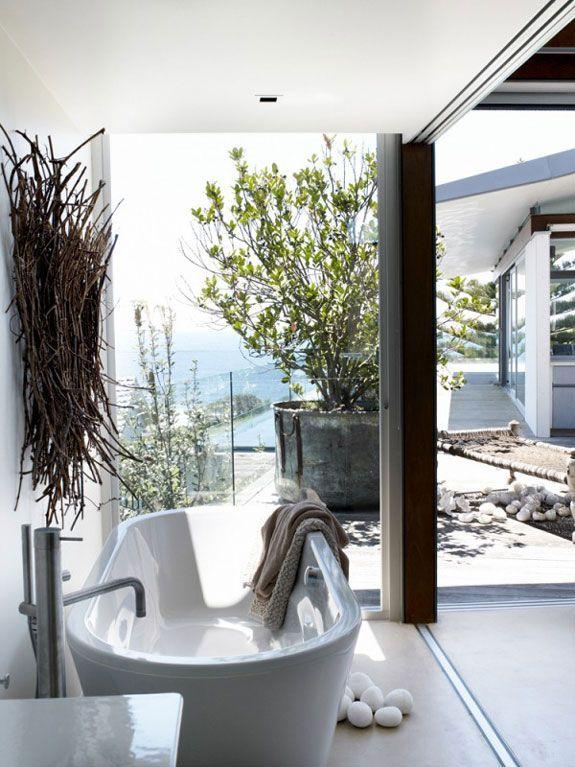Boho Home :: Bathroom :: Tropical :: Beach Style :: Outdoor Showers + Baths  :: Relax + Unwind :: Bathing Beauty :: Free Your Wild :: Bohemian Home  Decor + ...