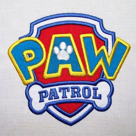 Paw Patrol Logo Applique Machine Embroidery Design Pattern Instant Download Pinata Paw Patrol Soiree Patrouille Pattes Anniversaire Paw Patrol
