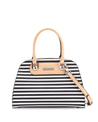 8117d4d36210 Wanda+3+Striped+Leather+Dome+Tote+Bag