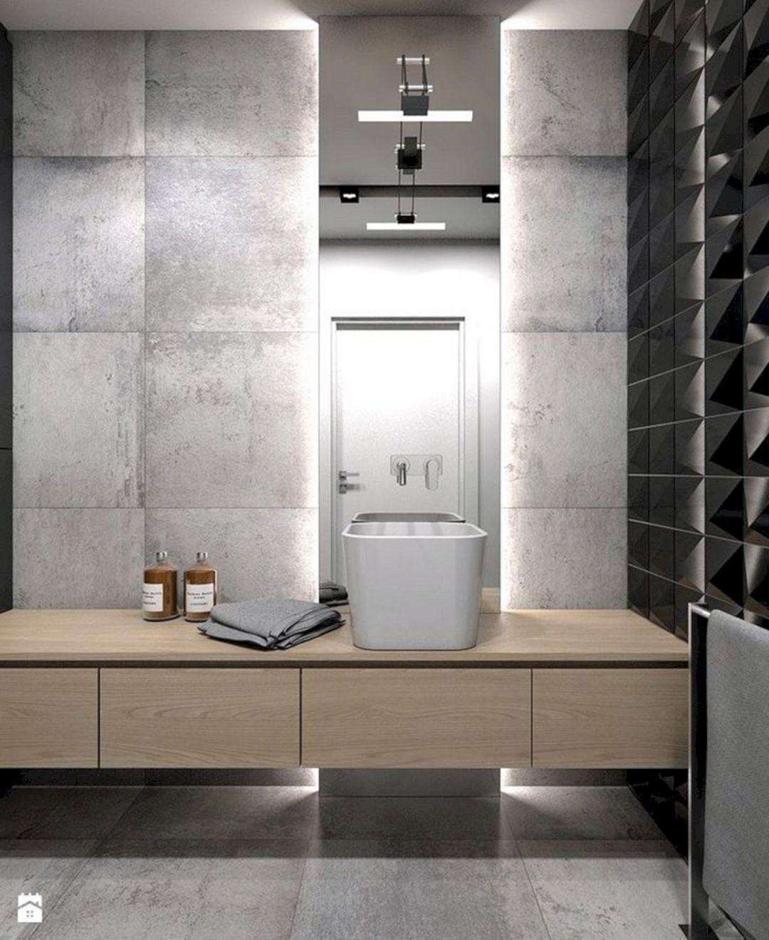 Grey Basement Ideas: 15 Incredible Black And Grey Bathroom Design Ideas