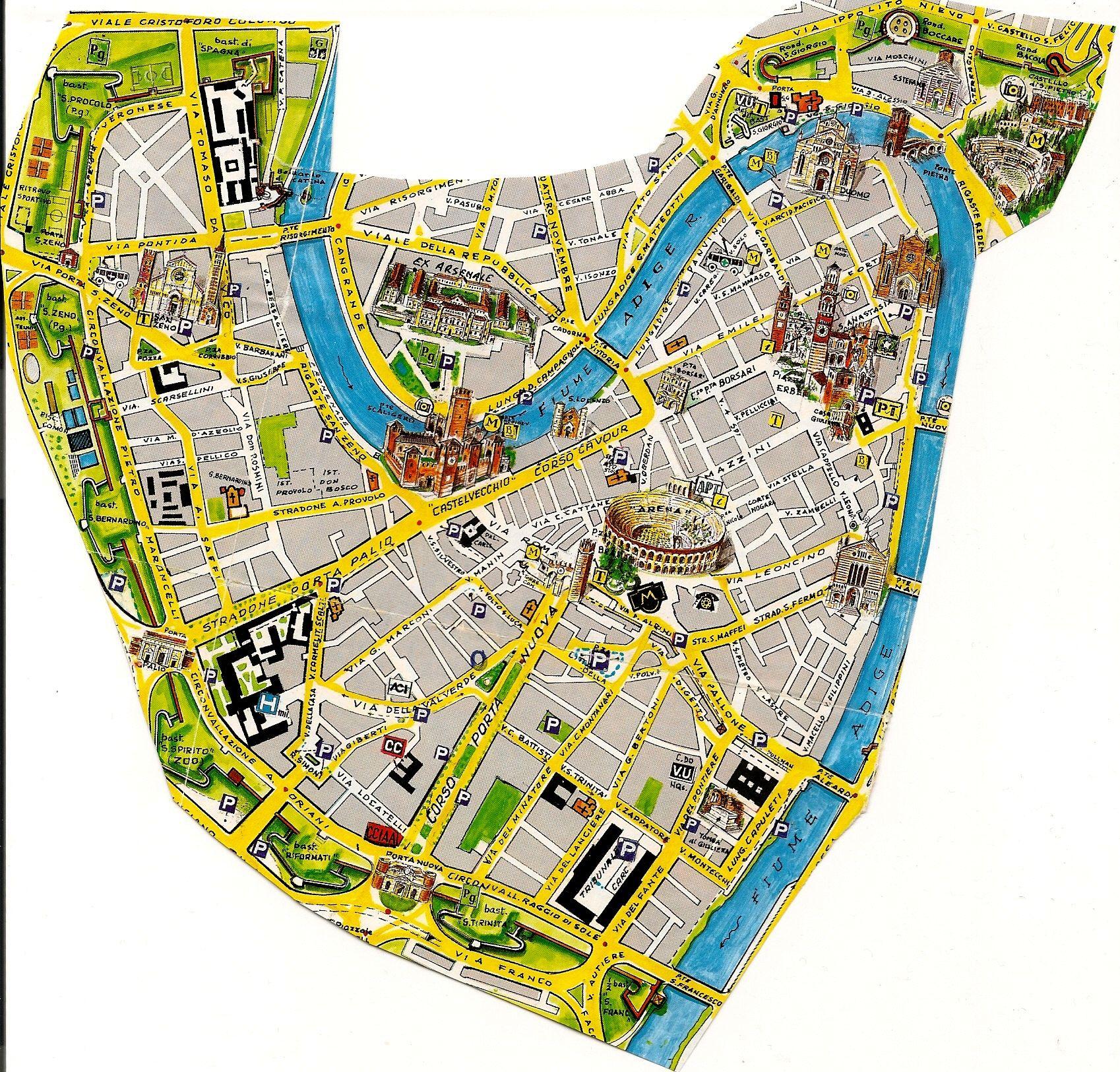 map of Verona Italy PISA FLORENCE SIENNA SAN GIMIGNANO
