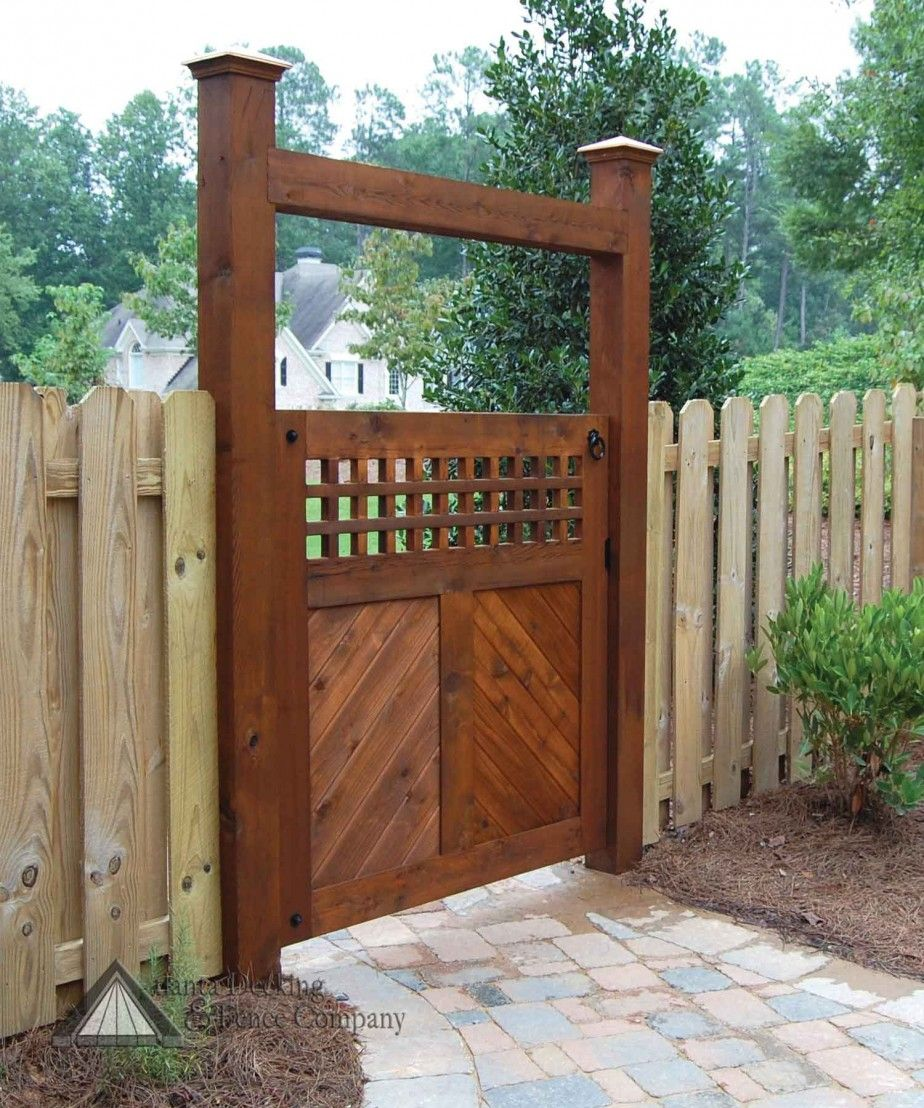 Fences And Gates: Beautiful Vertical Wood Fencing Idea And Stone