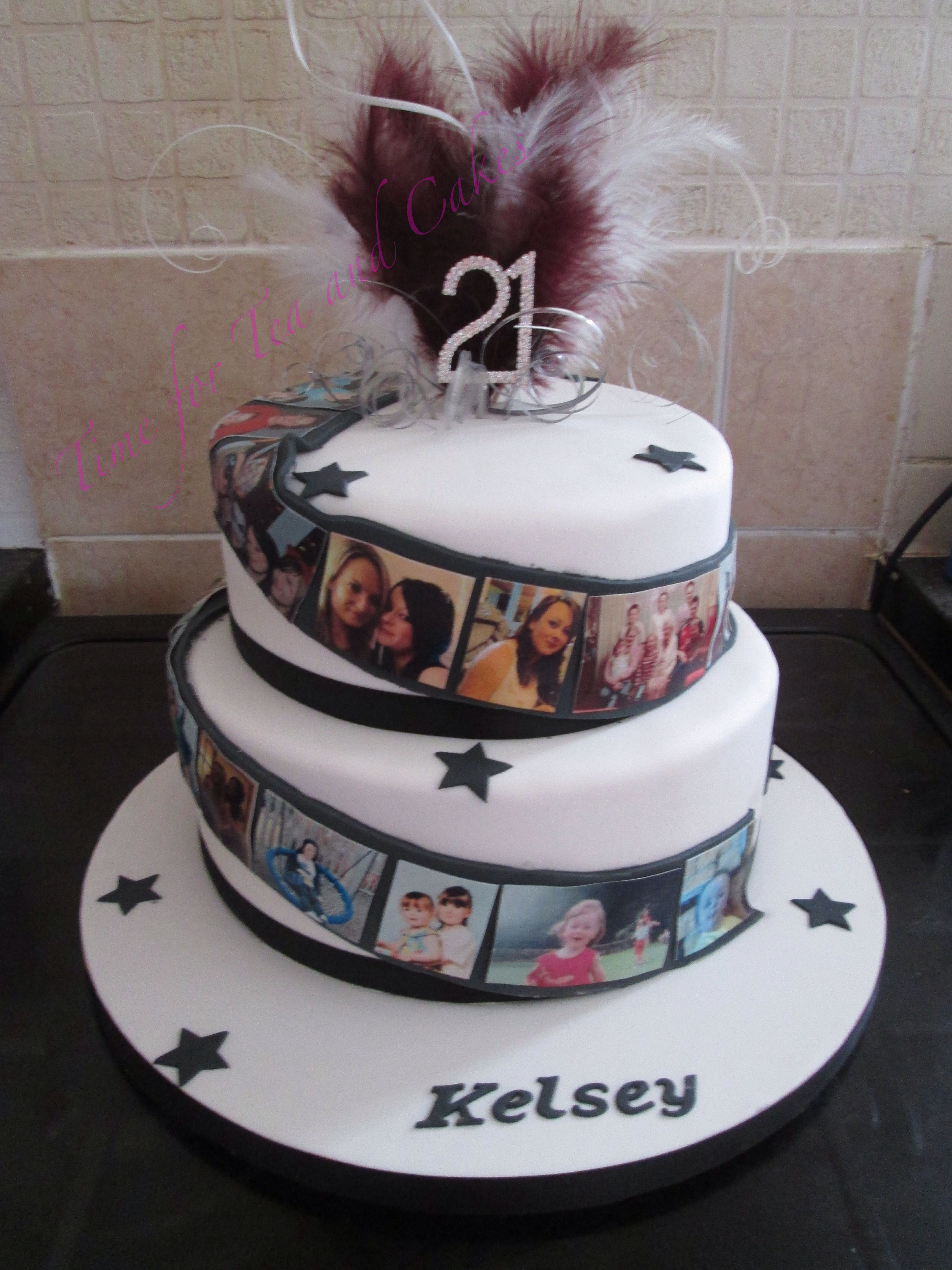 Photo Film Real Memory Cake For A St Birthday Celebration - Real birthday cake images