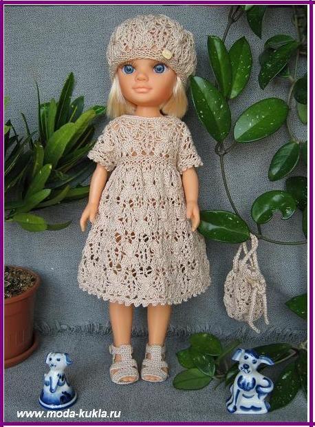 Узоры на платьях для кукол