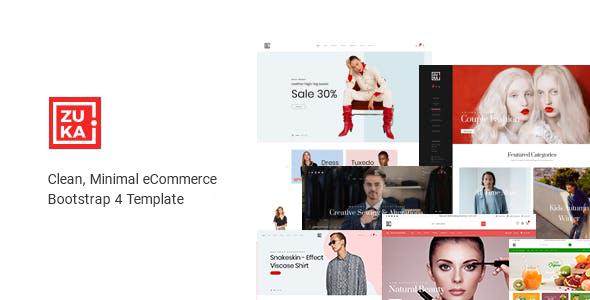 Multipurpose HTML Template Zuka Shopify