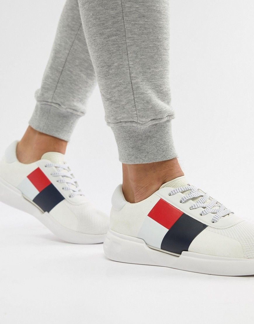cf570ce215af1c TOMMY HILFIGER LIGHTWEIGHT RUNNER IN WHITE - WHITE.  tommyhilfiger  shoes