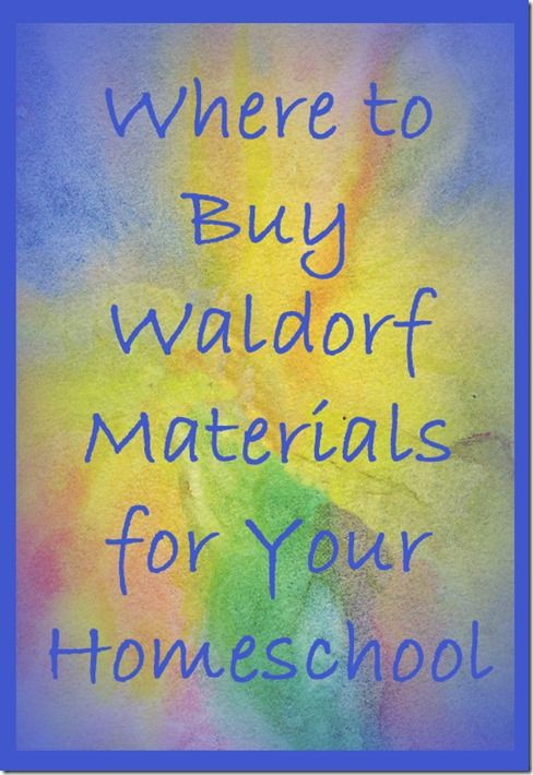 Where to Buy Waldorf Materials for Your Homeschool   humble ...