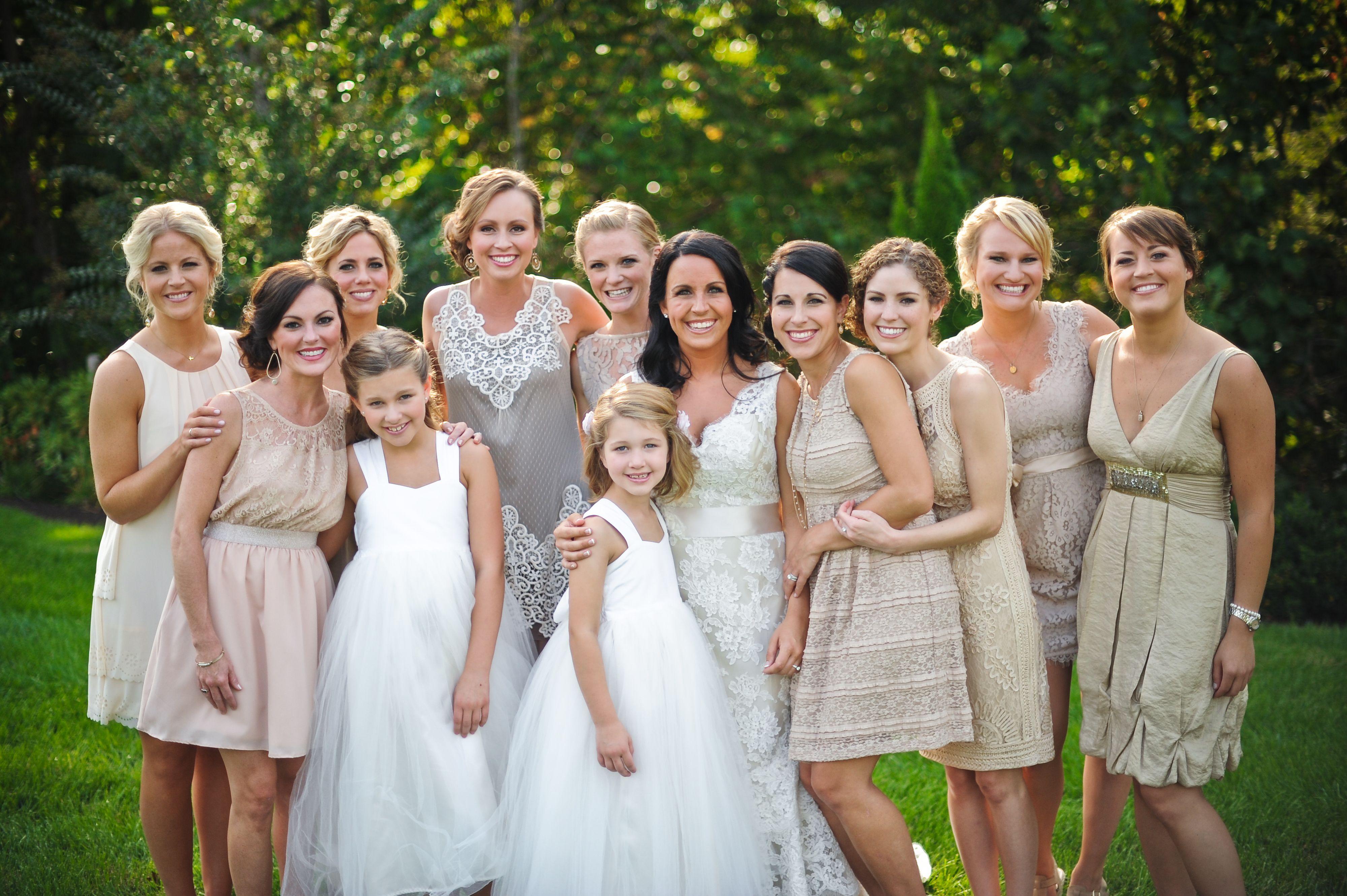 Mixtures of neutral color bridesmaid dresses lauren pinterest mixtures of neutral color bridesmaid dresses ombrellifo Images