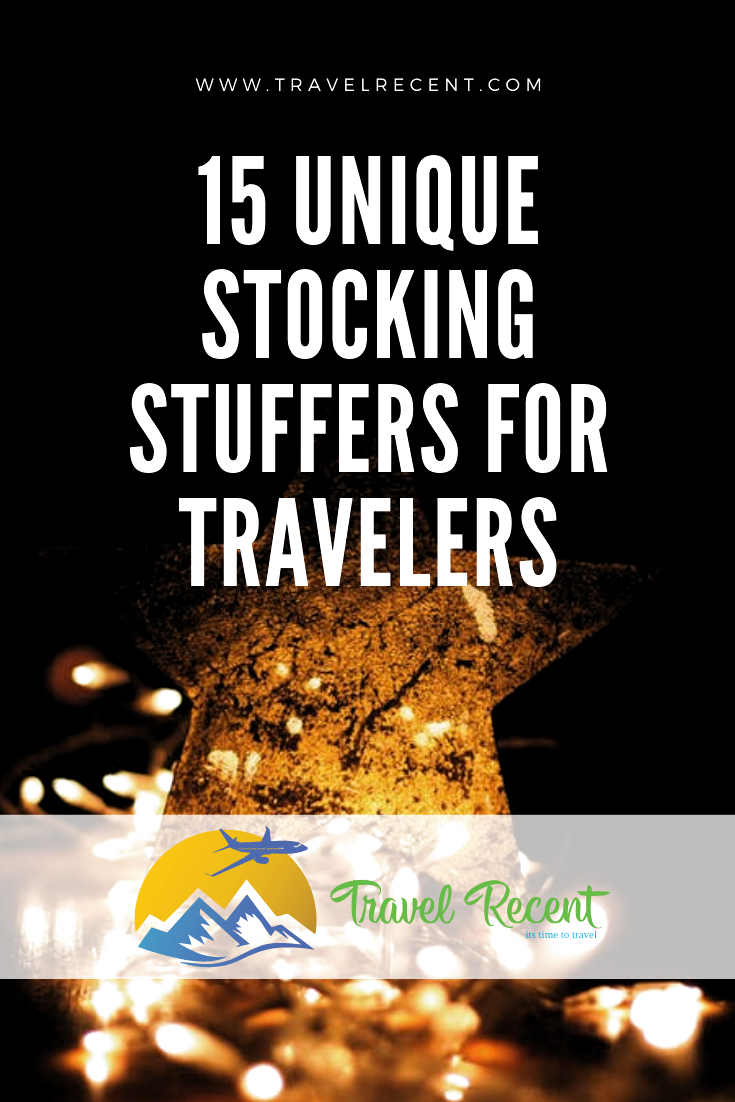 15 unique stocking stuffers and gift ideas for travelers in your life. Find these items on Amazon! Shop early for Christmas and avoid the crazy shopping crowd.  Check out this list now! #christmas #traveler #wanderlust #shopping #afflink #amazon #travelers #stockingstuffer #christmasgifts #holiday #world #worldtraveler #flight #roadtrip #packing #unpacking #beach #ski #travel #goget #jetset #travelrecent #vacation