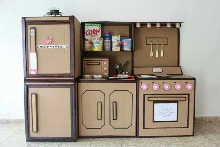 Pin De Tatiana En Material Pedagogico Cocina De Carton Juguetes