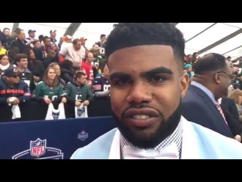 a038d75b6 Liked on YouTube: Ezekiel Elliot Dallas Cowboys 1st Round Pick Shows Abs At  NFL Draft Interview #NFLDraft