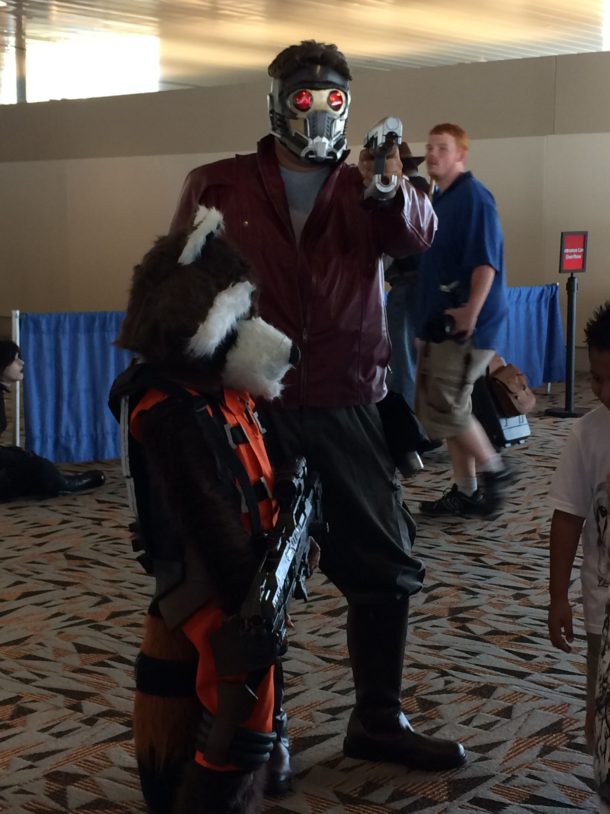 Guardians of the Galaxy costumes. Baltimore Comic Con 2014