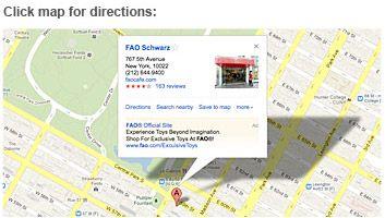 FAO Schwarz NY address on Google Maps NYC Pinterest