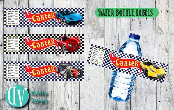 Personalized Ferrari Water Bottle Labels !
