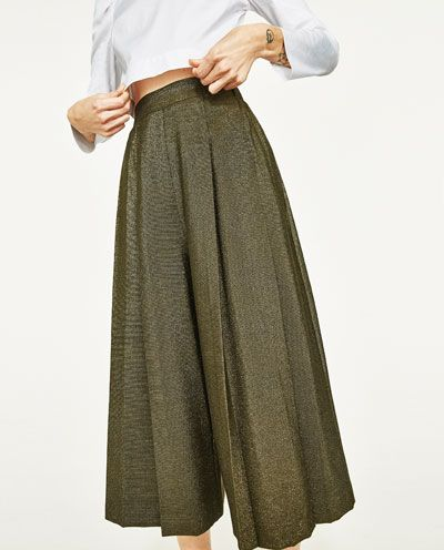 47d92bb7cad46d Image 2 de JUPE-CULOTTE de Zara | Jeans & Pants | Jupe culotte ...