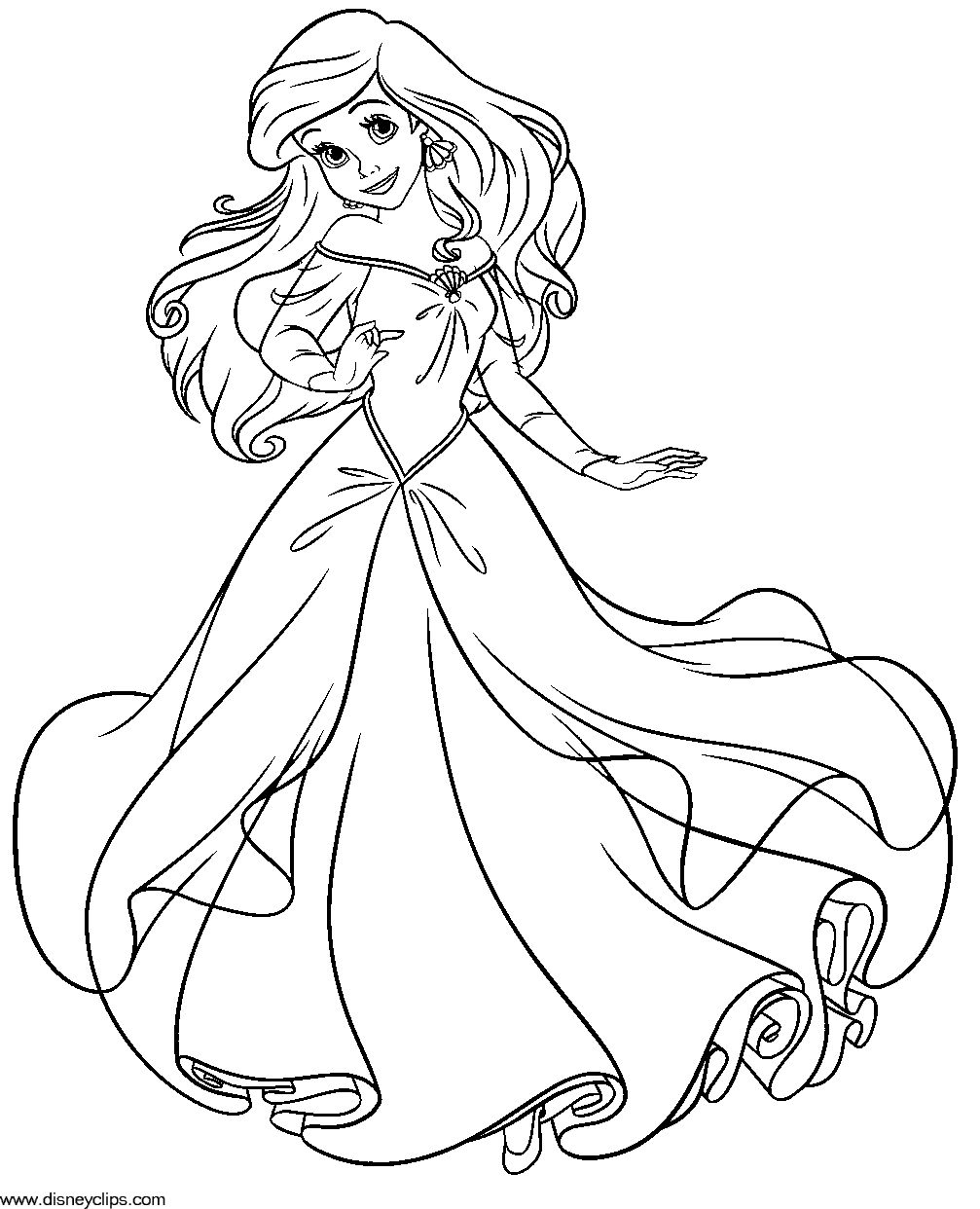 The Little Mermaid Coloring Pages | Coloring Pages | Pinterest ...