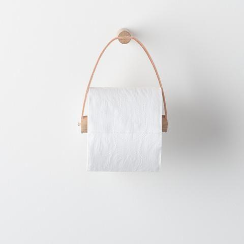 Photo of Oak + Leather Tissue Holder