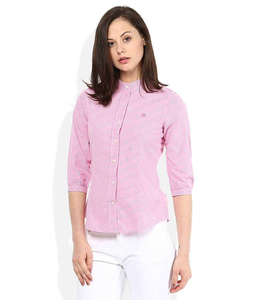 American Swan #Pink Chinese Collar Shirts #Women #Fashion #Style ...