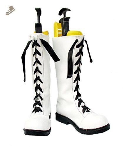 Black Butler Kuroshitsuji Ciel White Boots Cosplay Shoes Boots Custom Made