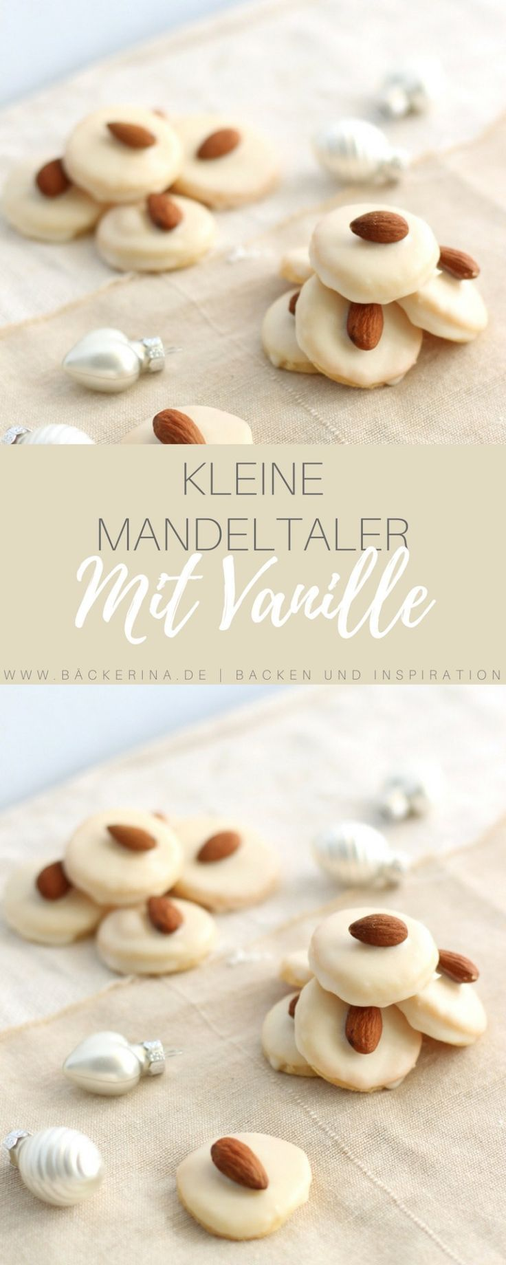 Mandeltaler mit Vanille - Einfaches Weihnachtsplätzchen Rezept