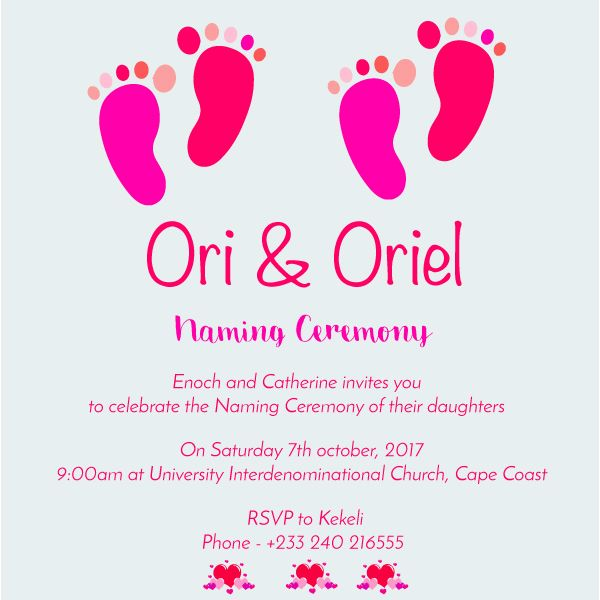 naming ceremony invitation card Projects to Try Pinterest - naming ceremony invitation