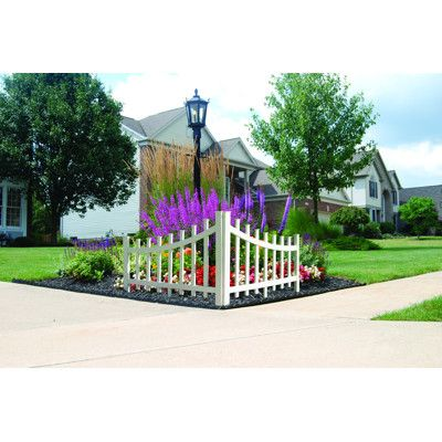 Barrette Outdoor Living Corner Accent Fence 2 Pk Wicker