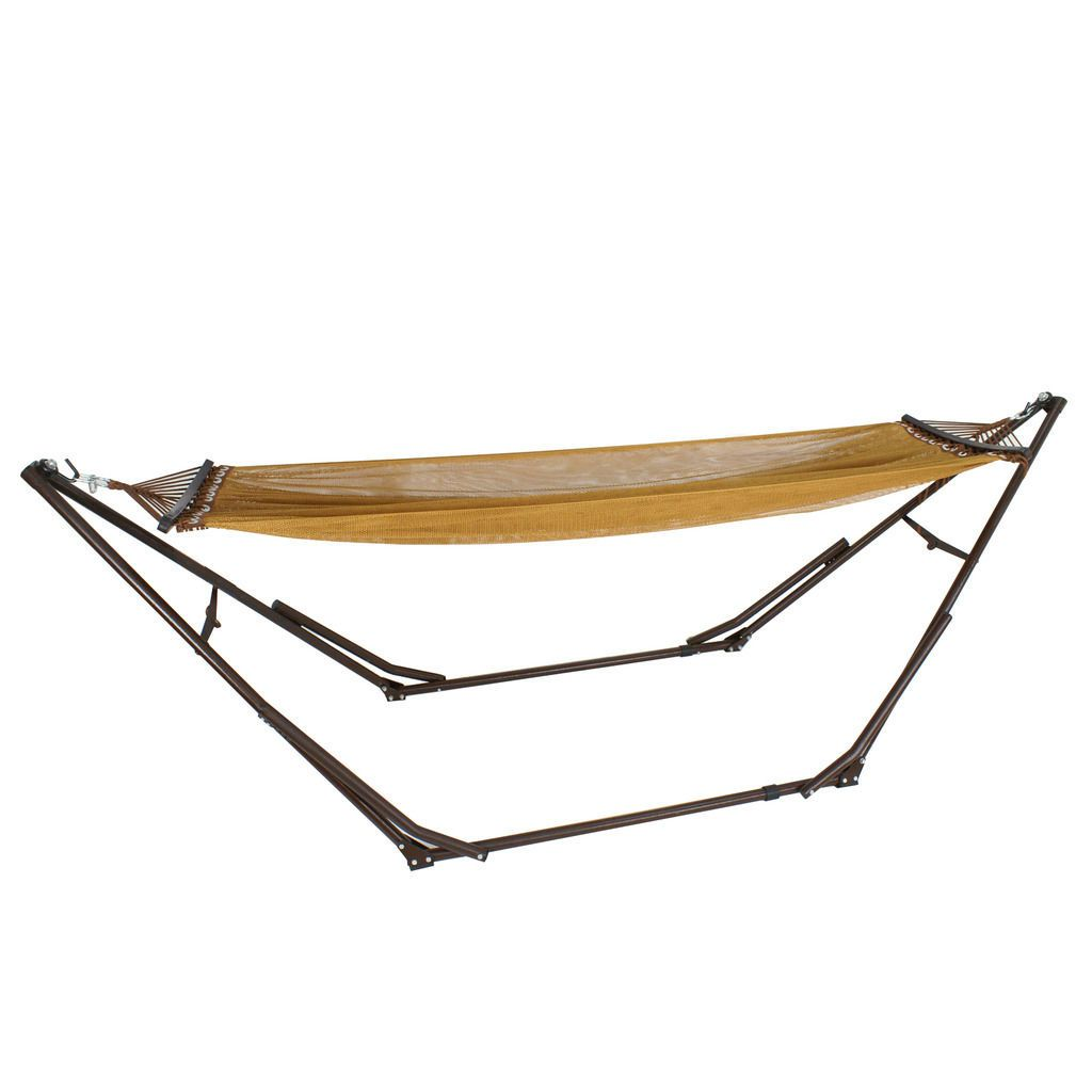 sunnydaze p of ls main stand capacity black foot heavy pound duty steel hammock picture