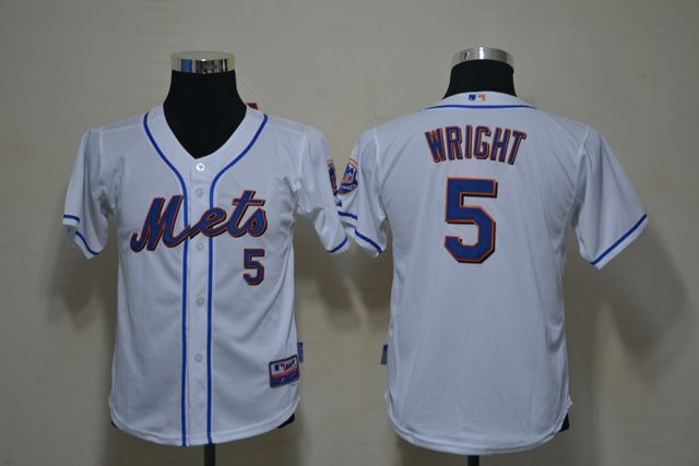 35ea0407c81 ... good mets 5 david wright white cool base stitched youth baseball jersey  0df72 dfdae