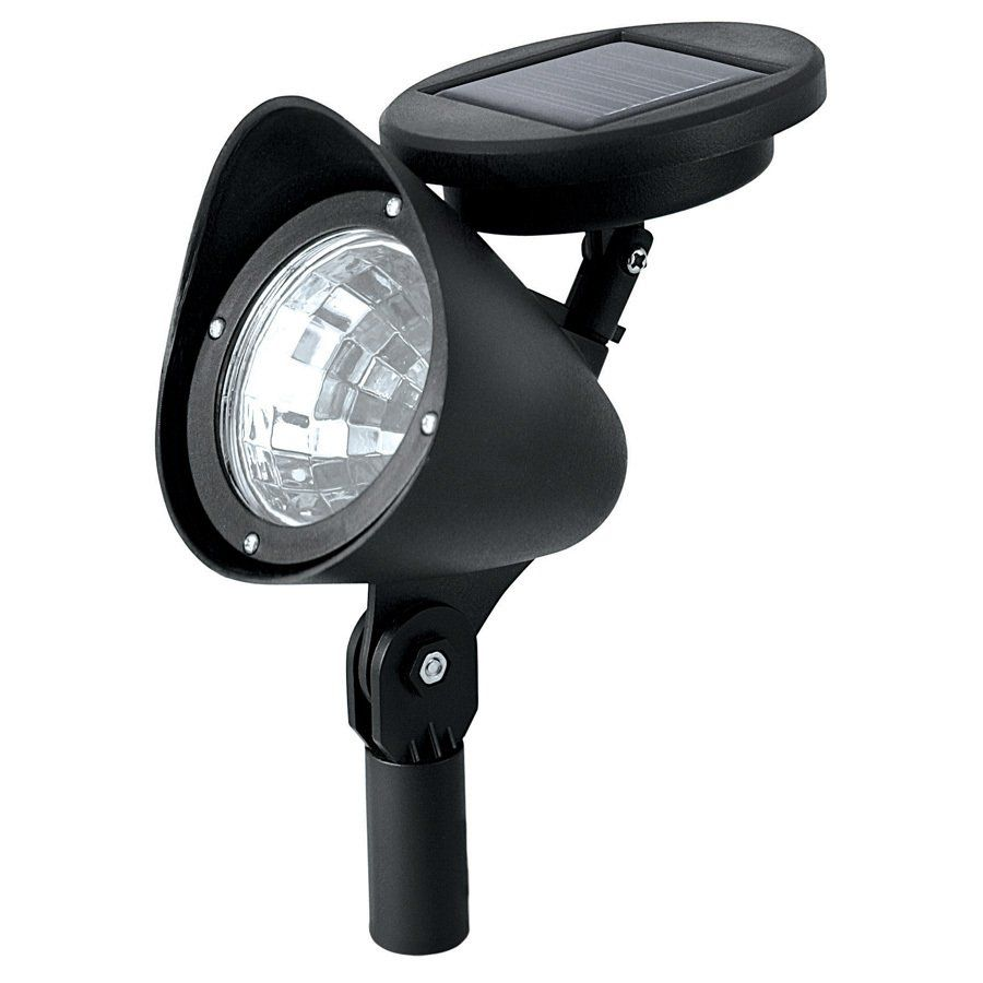 Paradise Garden Lighting Black Solar Ed Led Spotlight At Lowe S Canada Find Our