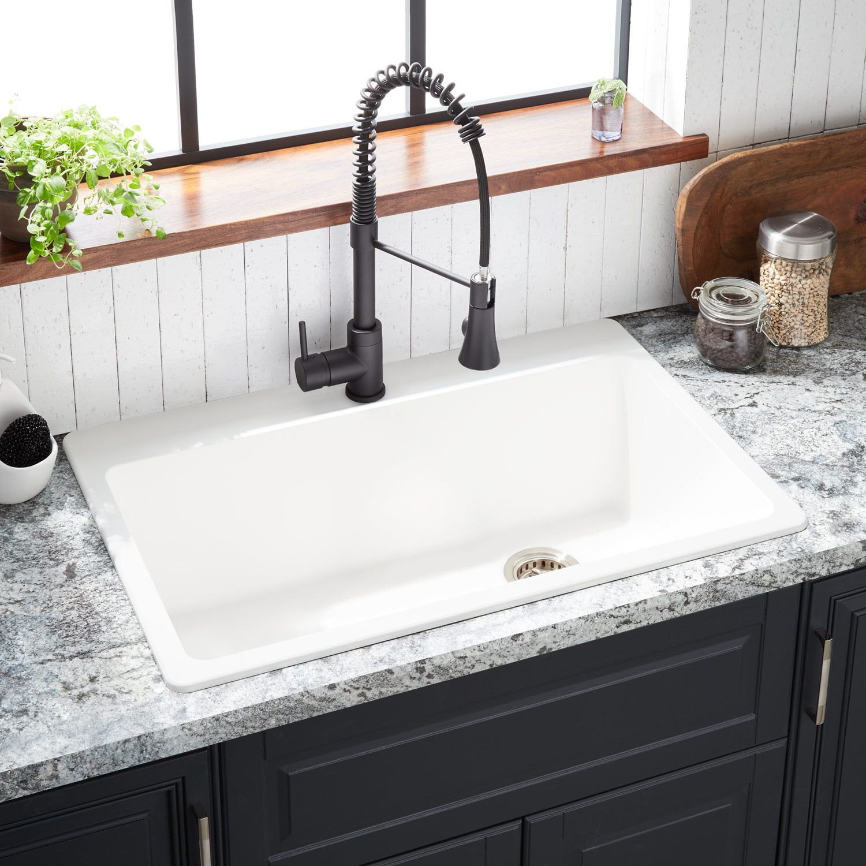 33 Totten Granite Composite Drop In Kitchen Sink White In 2021 Drop In Kitchen Sink Kitchen Sink White White Kitchen Sink