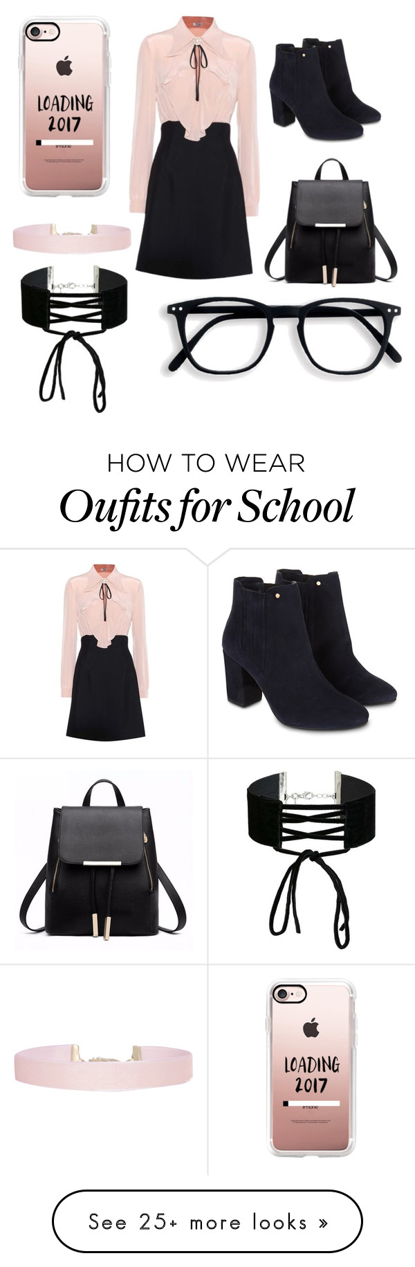 """""""School girl"""" by breannabubbles on Polyvore featuring Miu Miu, Monsoon, Casetify, Humble Chic and Miss Selfridge"""