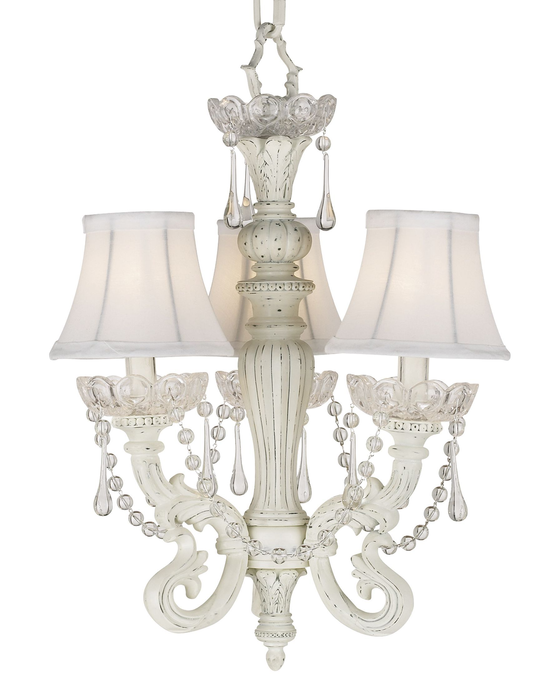 Kathy Ireland Home By Pacific Coast Chateau Mini White Chandelier