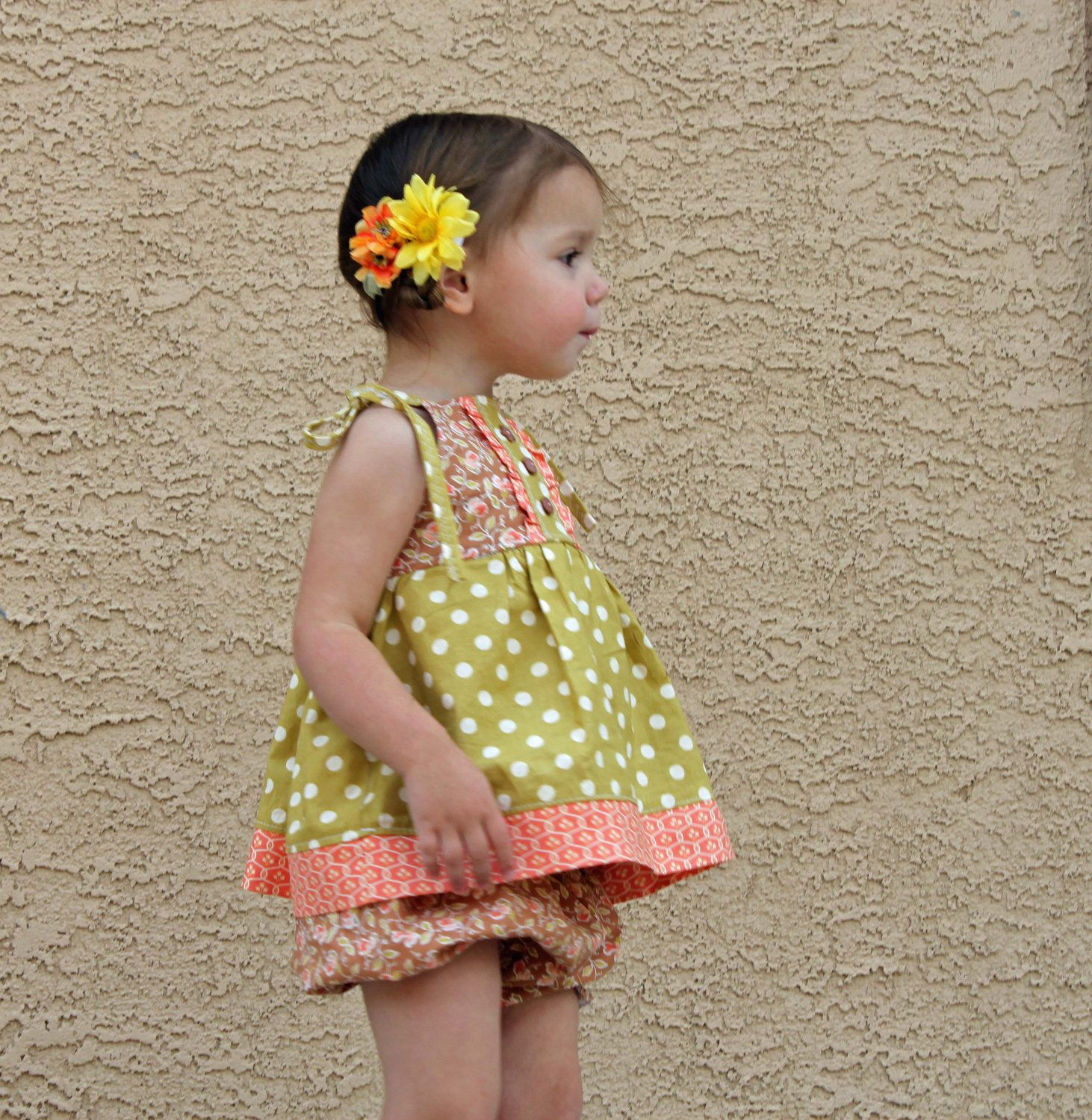 Girl's Picnic Apron Dress or Top clothes sewing tutorial PDF